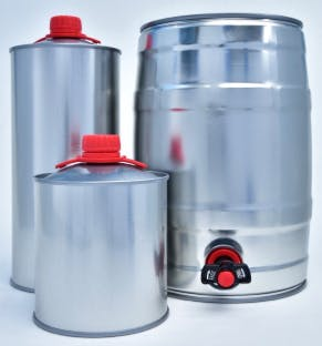 """Metal Growlers & 5 Liter Mini Kegs - GRAN Can & CANgo - One Way Metal Growlers - """"On the Go"""" Packaging - sold by The Stout Beverage Group"""