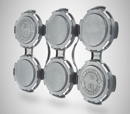 Can Plastic Handles  Can carrier ring sold by Gamer Packaging Inc.