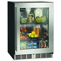 "Perlick 24"" Commercial Series Built-in Refrigerator - Stainless Glass Door Model:HC24RB-3-3R Back bar cooler sold by Beverage Factory"