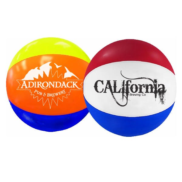 12in. Multi-Colored Beach Ball Promotional product sold by MicrobrewMarketing.com