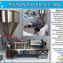 Non-Flammable, Perfume Single Head Piston Filler/ Filling Machine(AIR ONLY) JET-300 Fills Liquid, Paste, Oil, Gel, Peanut Butter - Filling machine sold by Pro Fill Equipment