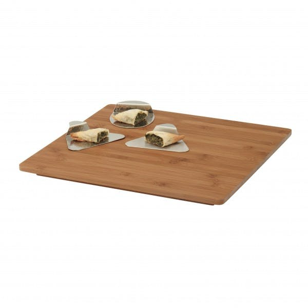 "14.38"" x 14.38"" Square Bamboo Platter"