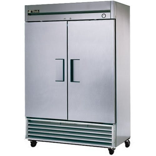 True Manufacturing TS-49F Stainless In and Out Freezer, 2 Door, 49 Cu. Ft. Commercial freezer sold by Mission Restaurant Supply