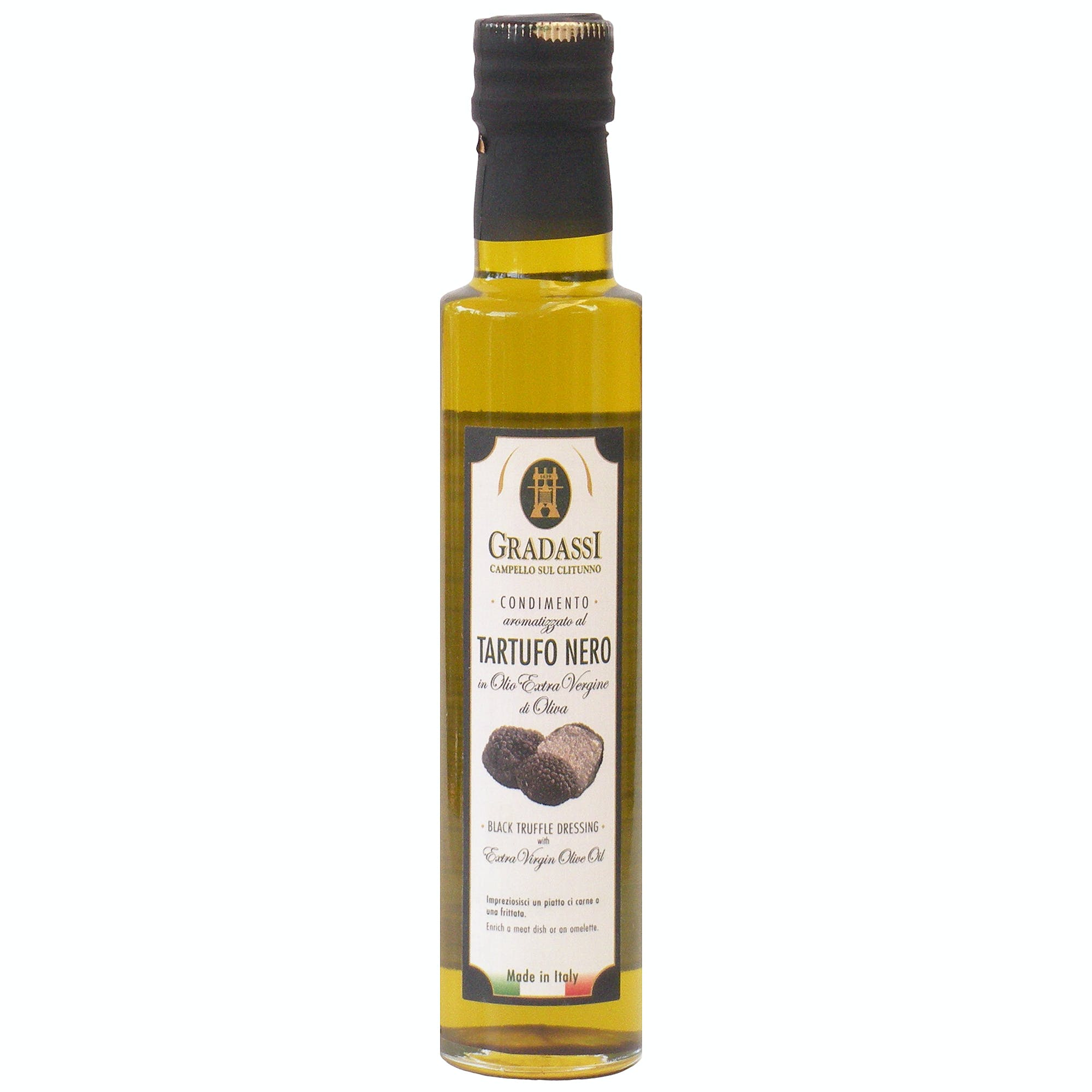 Italian Natural Black Truffle Infused Extra Virgin Olive Oil Dressing From Cufrol, 8.5 Ounces Infused oil sold by M5 Corporation