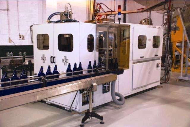 PET stretch Blow Molders - Linear - 1 to 4 Cavity - Designed and Built in Canada Blow molding machine sold by Amsler Equipment