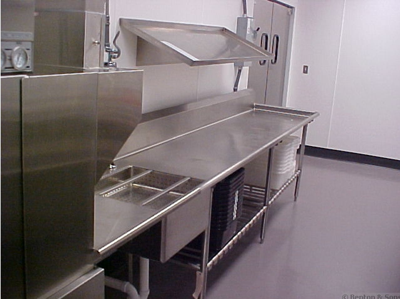 Custom stainless steel prep tables Food prep table sold by Benton & Sons