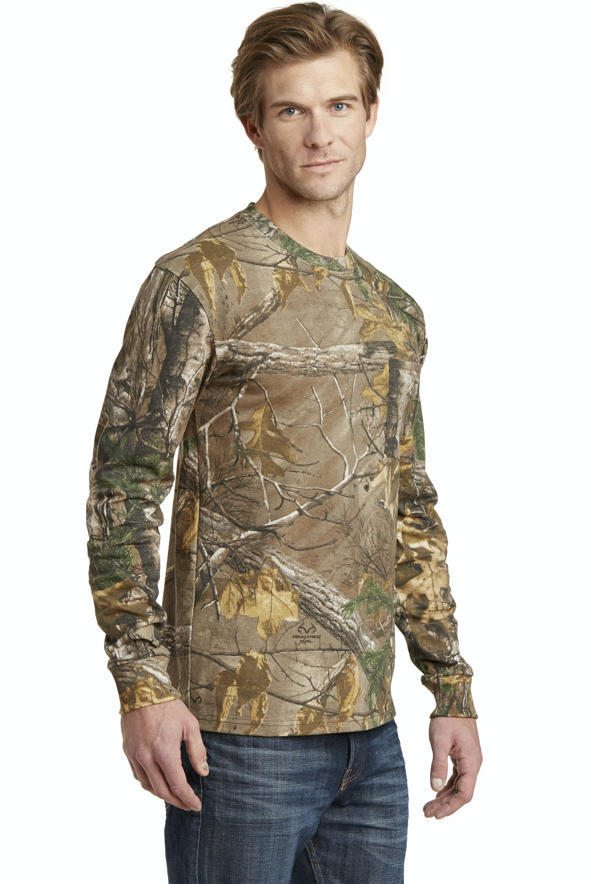 Russell Outdoors™ Realtree® Long Sleeve Explorer 100% Cotton T-Shirt with Pocket - sold by PRINT CITY GRAPHICS, INC