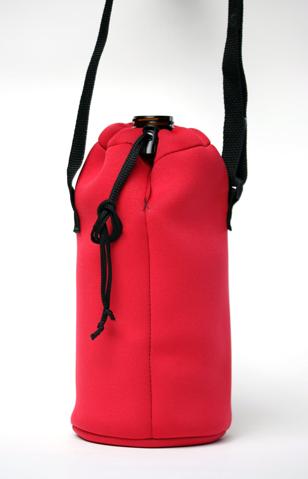 Neoprene growler sling - drawstring Bottle carrier sold by Brewery Outfitters