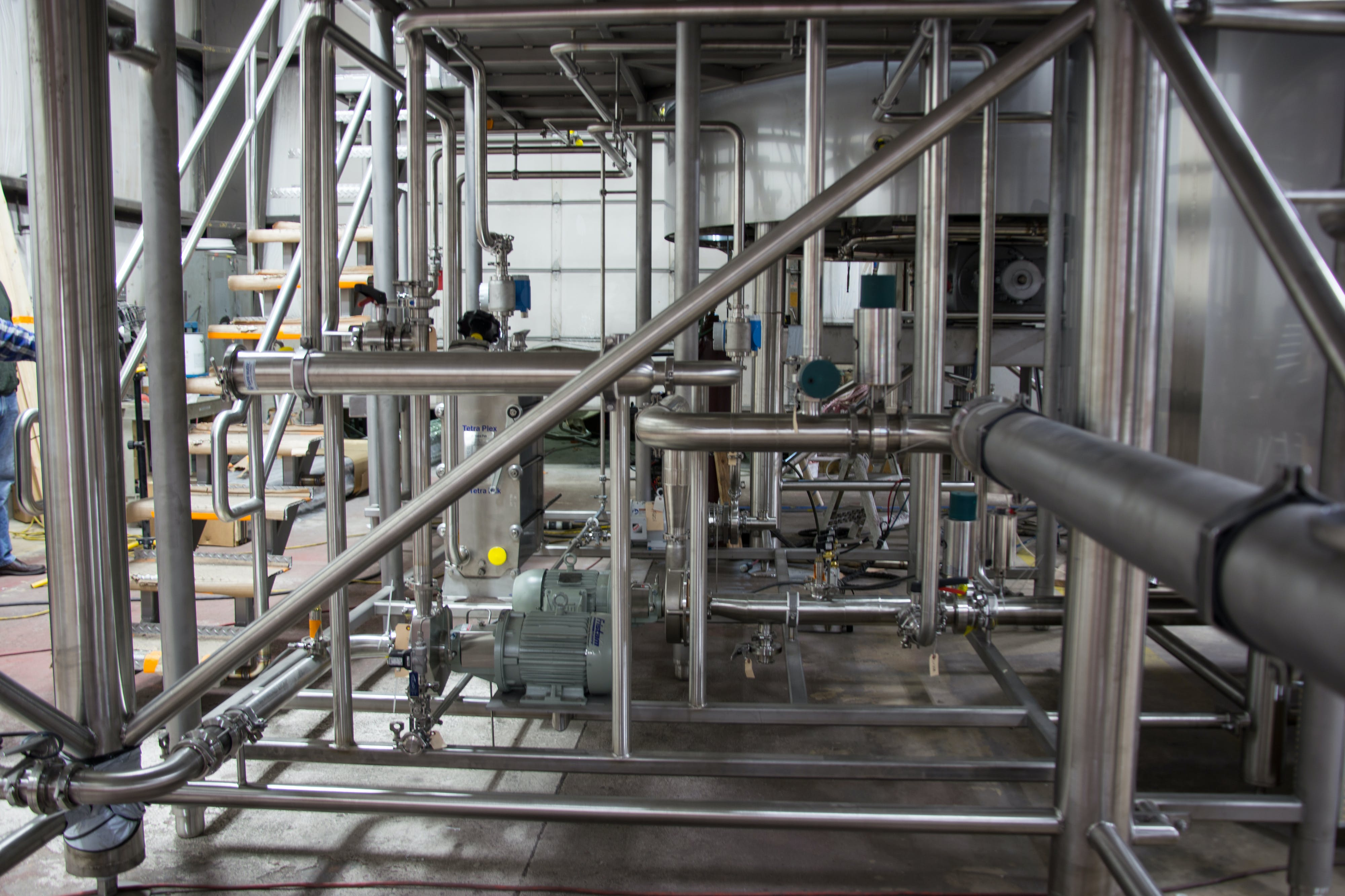 Under platform view of 50 BBL Brewhouse - 50 BBL Brewhouse - sold by W. M. Sprinkman