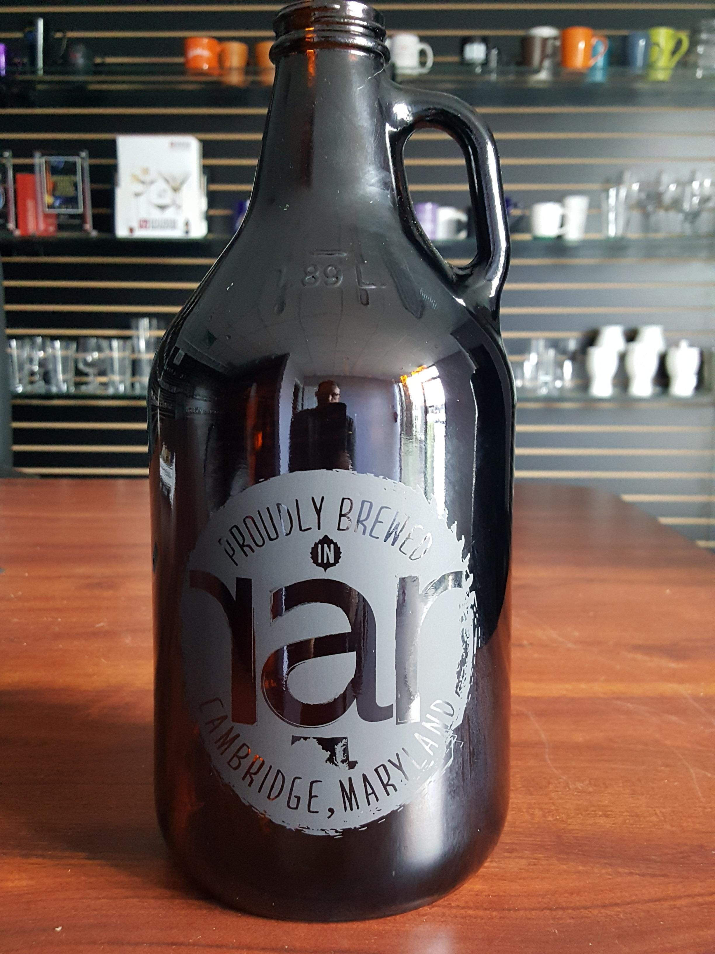 64oz Amber Growler Growler sold by Atlantic Custom Solutions