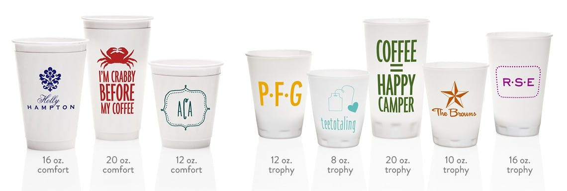 Disposable Paper Insulated Comfort Cups & Thin Disposable Trophy Cups Plastic cup sold by Cup of Arms