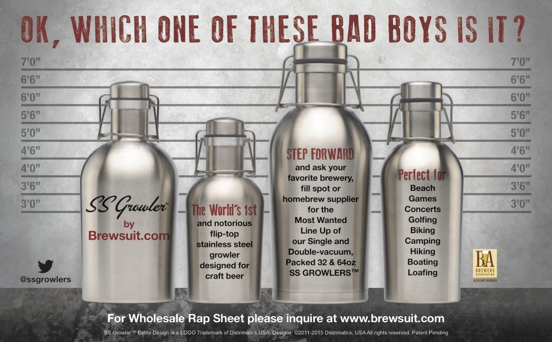 MOST WANTED Growler sold by Brewsuit.com