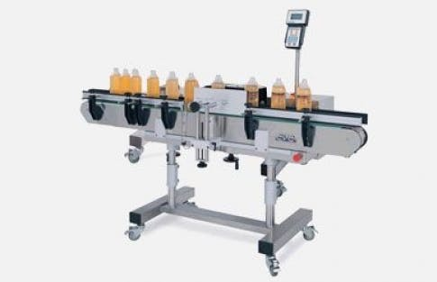 Labeling System, Model 300 C Bottle labeler sold by ACASI Machinery