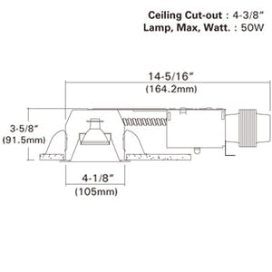 """4"""" NON-IC Shallow Remodel Low Voltage Recessed Light w/ Magnetic - sold by RelightDepot.com"""