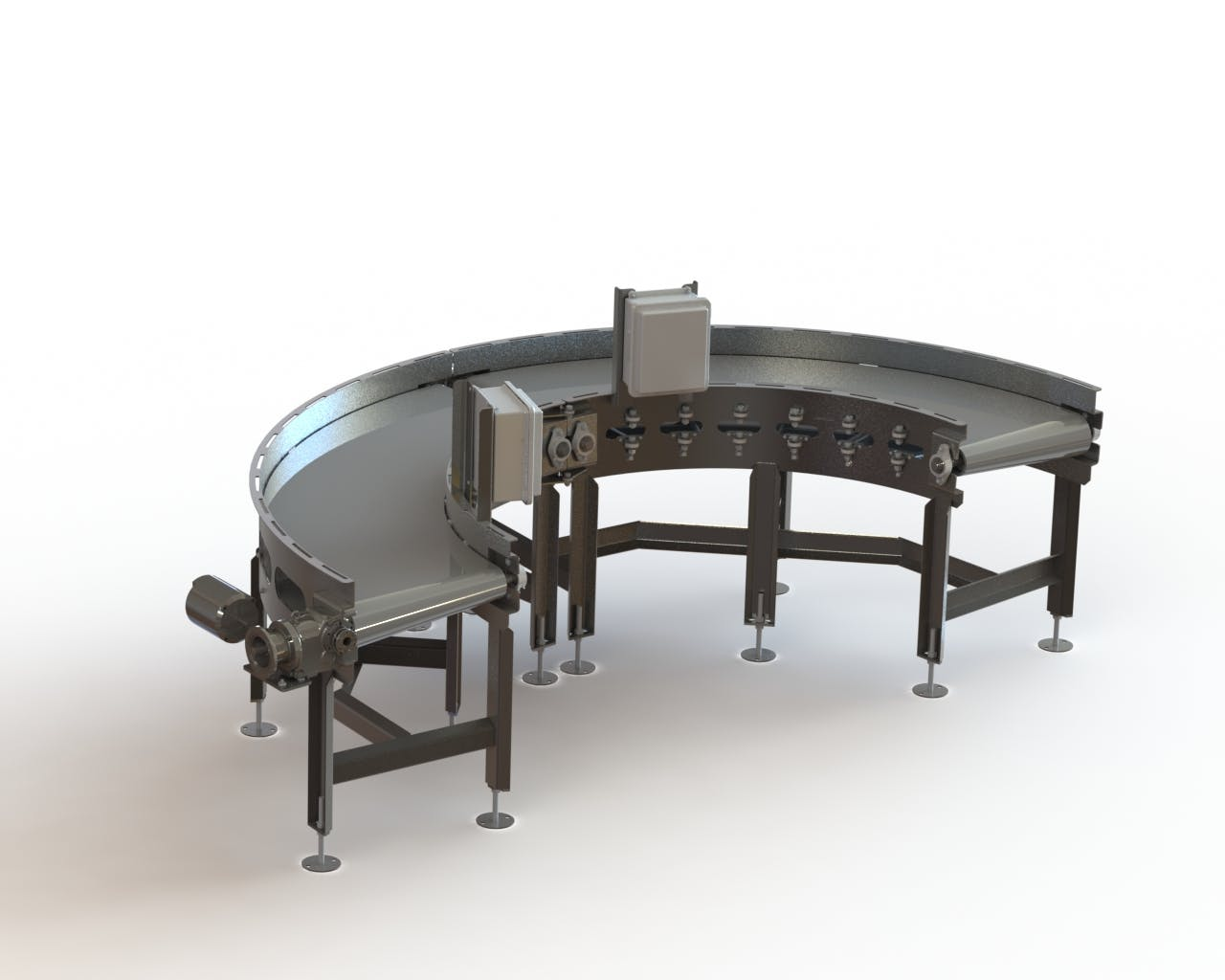 Double Zero-Tangent Radius Conveyors - Zero Tangent Radius Conveyor - sold by Fusion Tech Integrated Inc.