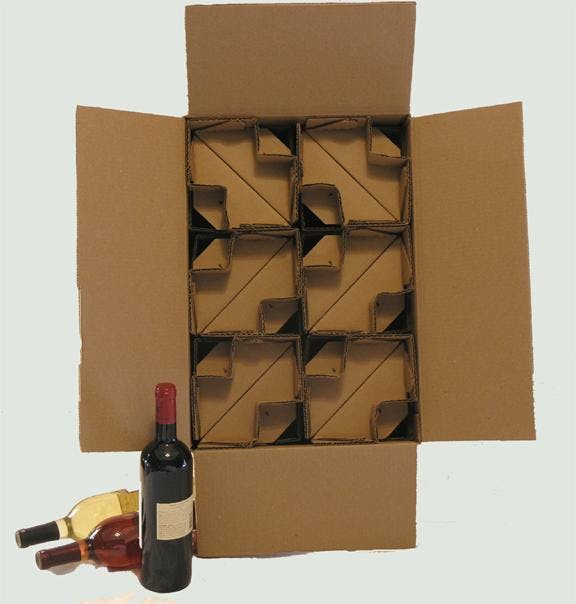 12 bottle kraft shipper