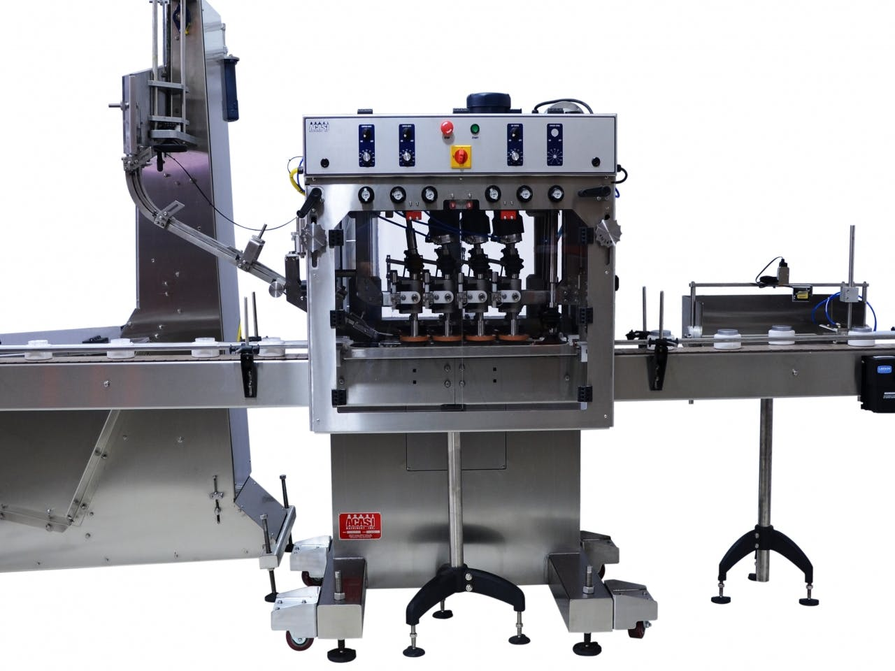 Automatic Inline Bottle Capping Machine Model TruCap-X-WFall Bottle capper sold by ACASI Machinery