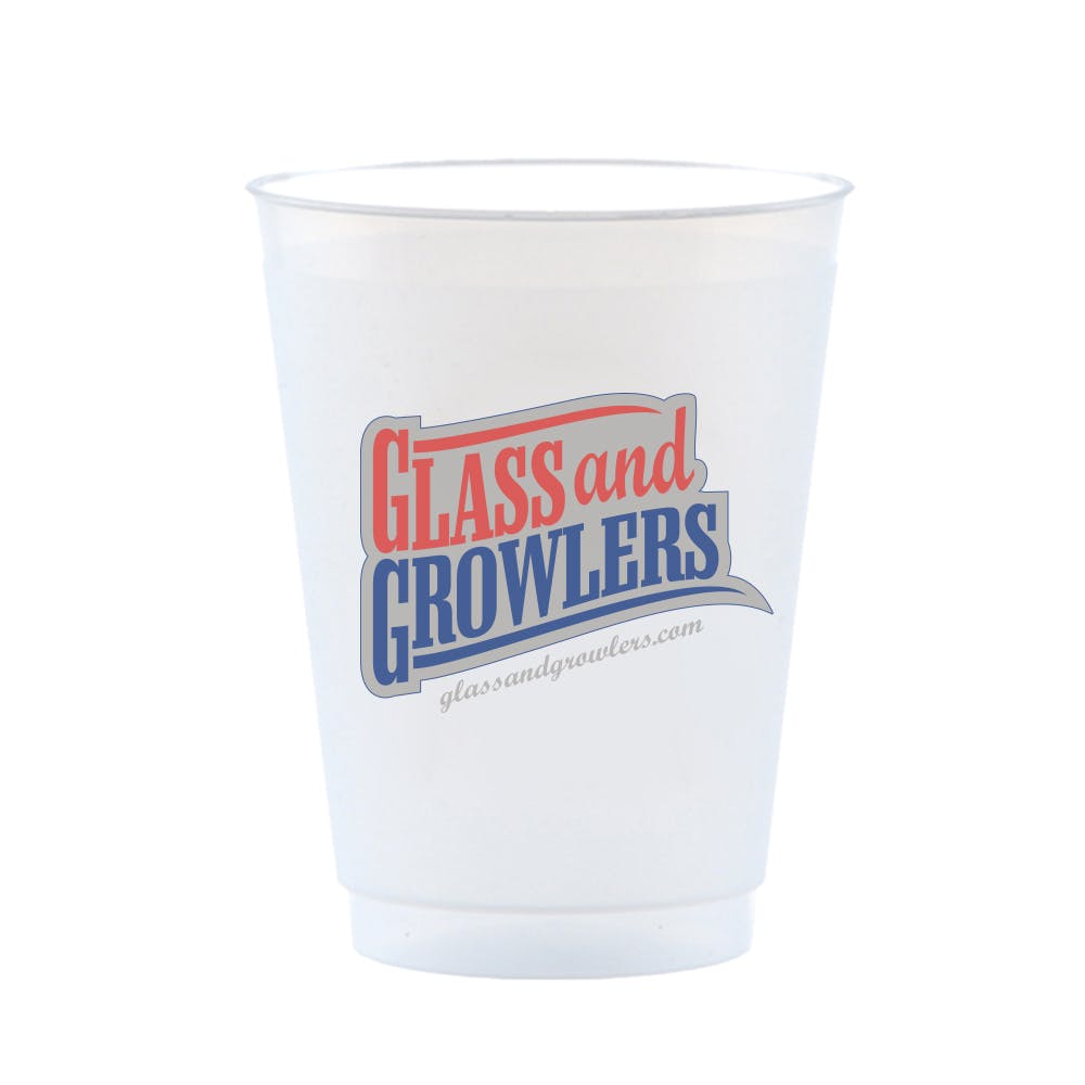Frost Flex Cup 16 Ounce Plastic cup sold by Glass and Growlers