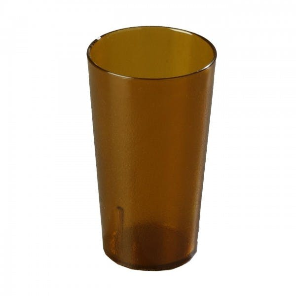 16 oz. Amber Plastic Pebbled Stacking Tumbler