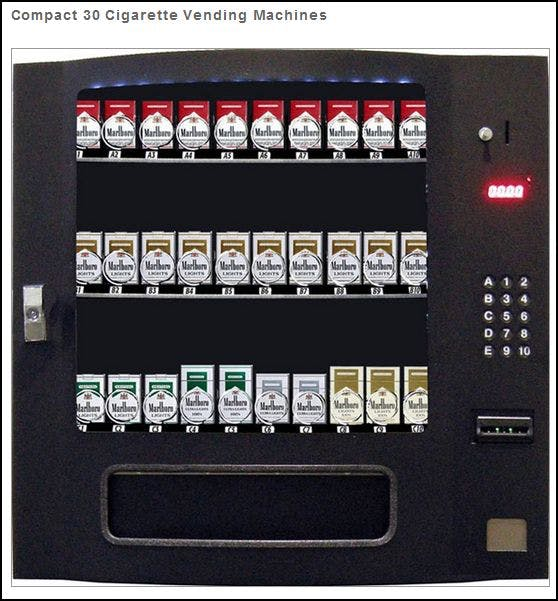 CIG30 - Table Top Cigarette Vending Machine - 30 Selections Vending machine sold by MEGAvending.com