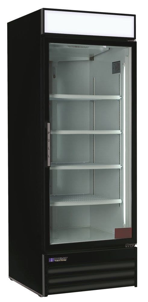 Master-Bilt MBGR26H Glass Door Merchandiser Refrigerator (24 cu ft capacity) Merchandiser sold by pizzaovens.com