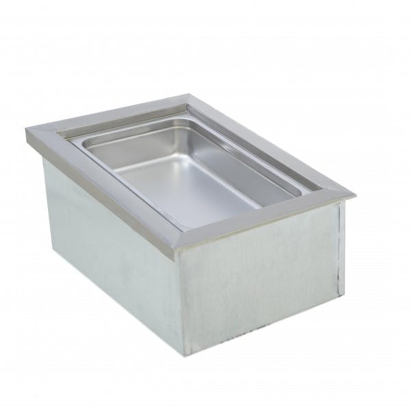 """12"""" x 20"""" Non-Refrigerated Drop-In Cold Ice Pan"""