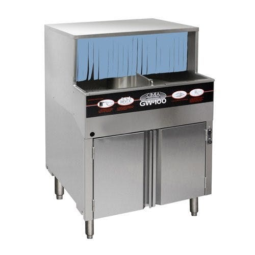 CMA Dishmachines GW-100 Rotary Glasswasher - Low Temp, 115V Commercial glass washer sold by Mission Restaurant Supply