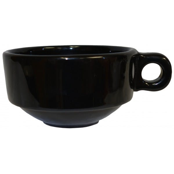 16 oz. Large Black Latte Cup
