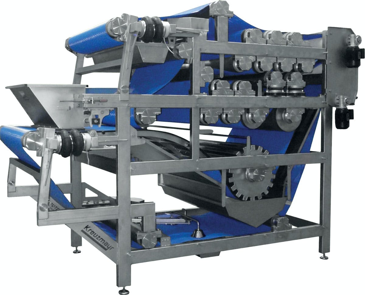 Kreuzmayr Double Belt Press Press sold by Juicing Systems