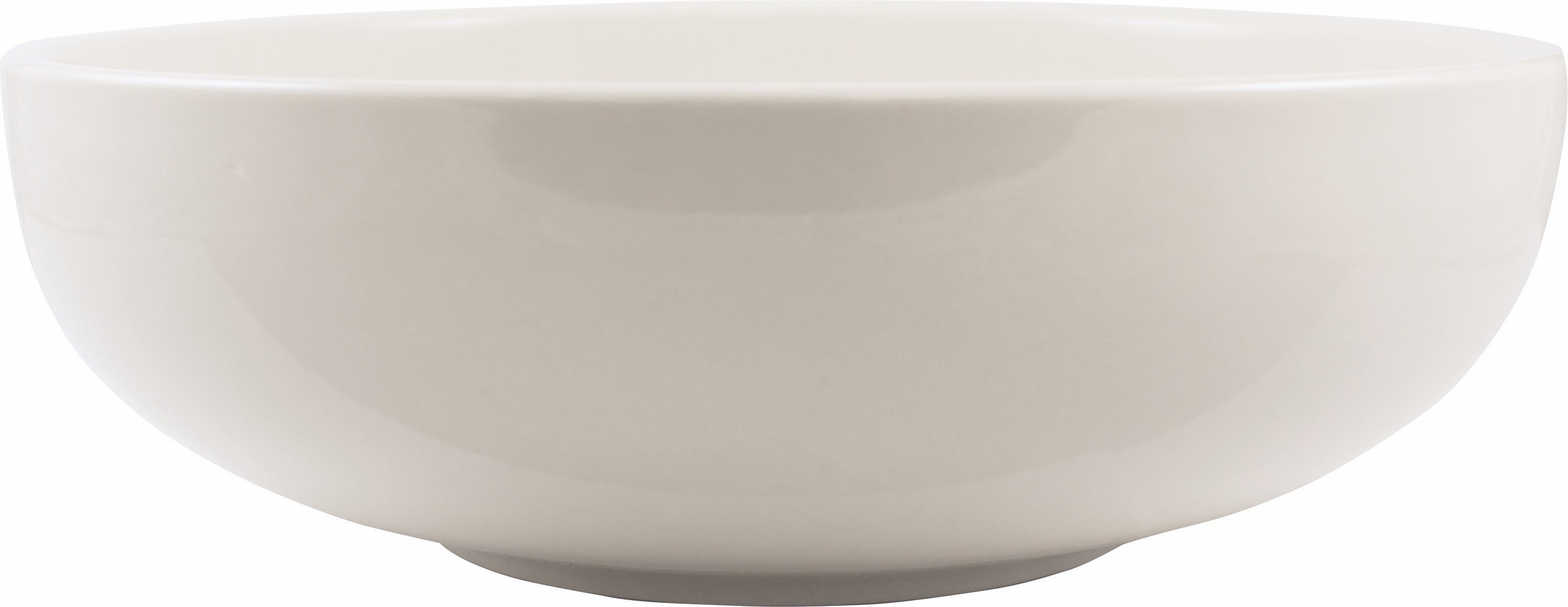 55 oz. American White Roma Salad Bowl Plate sold by Prestige Glassware