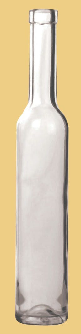 Ice Wine Style, Model #CW-021, 375 ML, Flint (Clear) Wine bottle sold by Gino Pinto INC