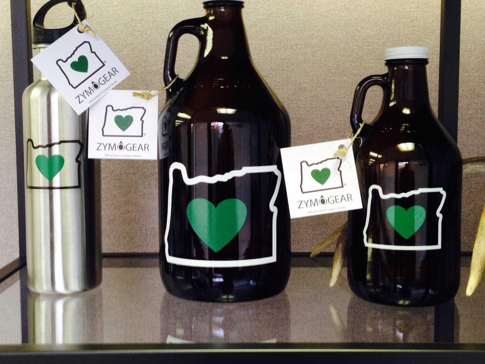 Amber Growlers. Growler sold by Zymogear