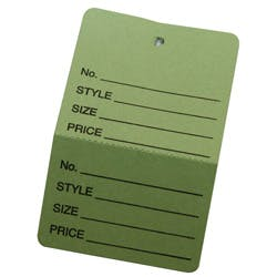 Retail Tags Name tag sold by Ameripak, Inc.