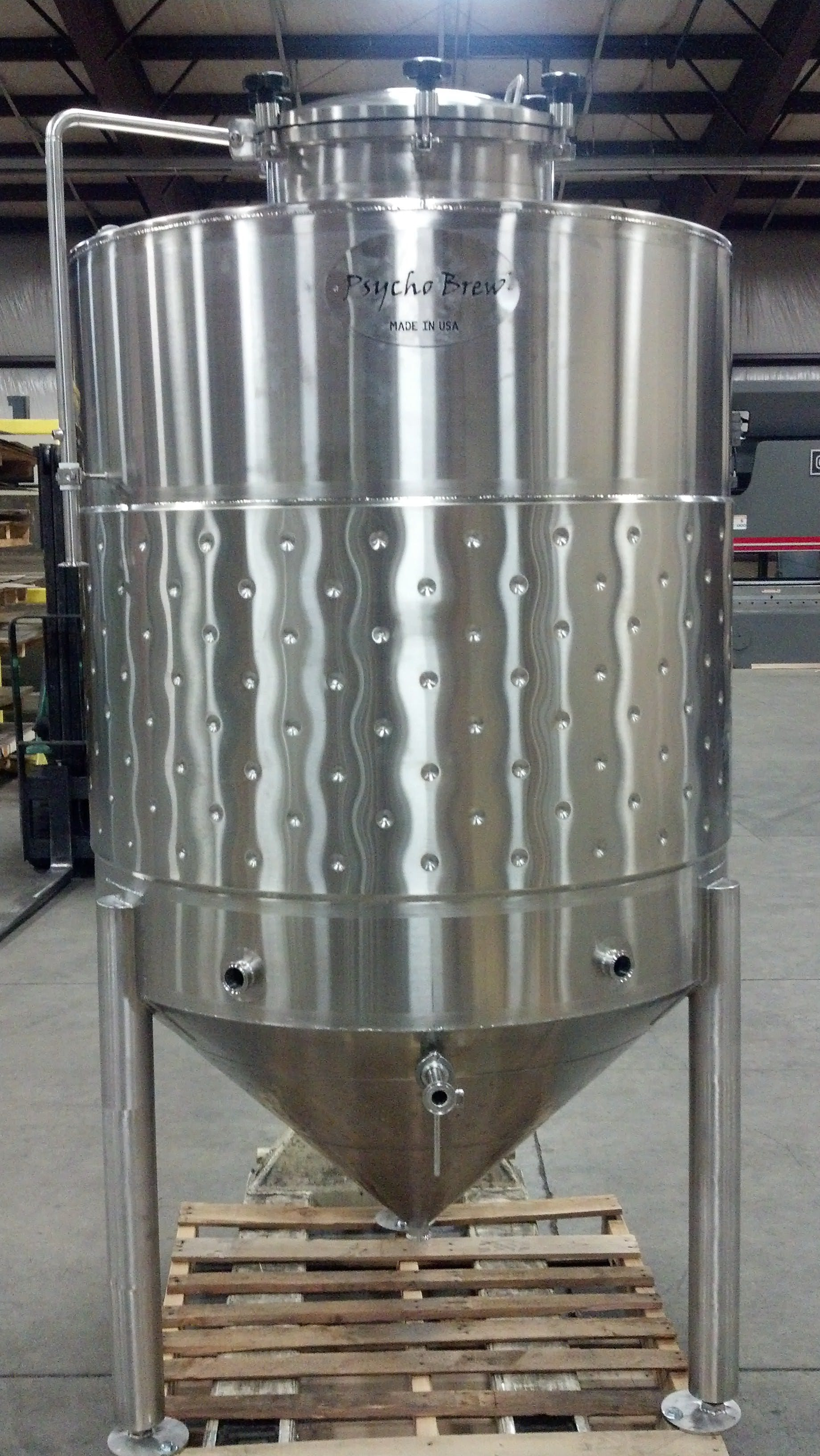 10 bbl Conical jacketed Fermenter Fermenter sold by Psycho Brew