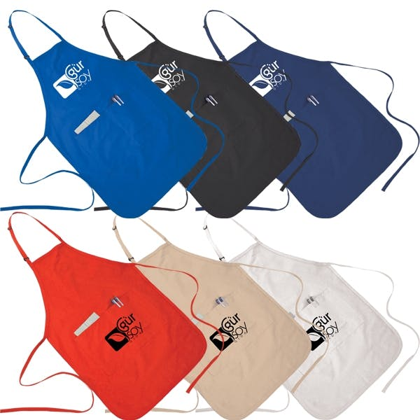 2 Pocket Apron (Item # ODKMR-GZHZI) Promotional apparel sold by InkEasy