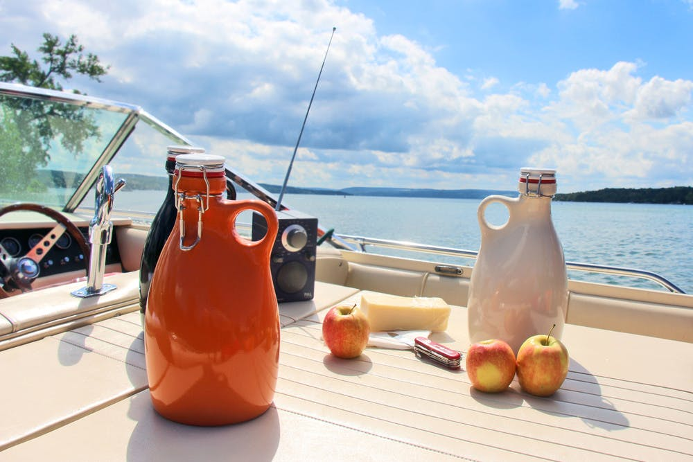 Slip Cast, Hand Poured, Stoneware Growlers - sold by Orange Vessel Company