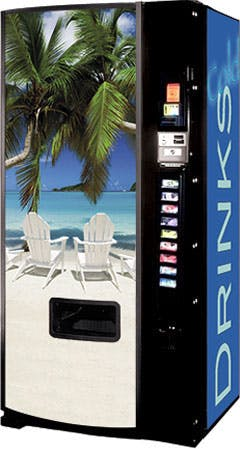 Dixie Narco Model 501E NEW Beach Scene Vending machine sold by Vending World