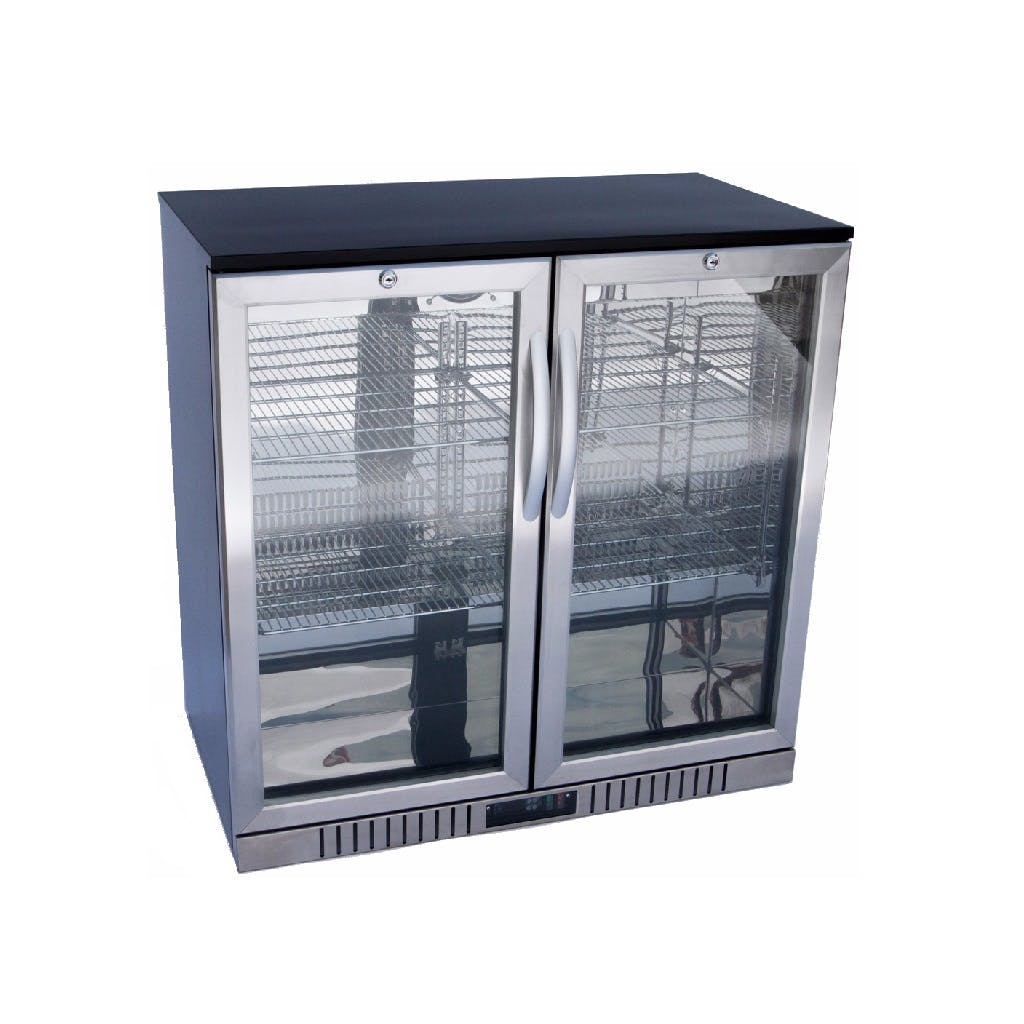 2-Door Back Bar Cooler - Stainless Steel