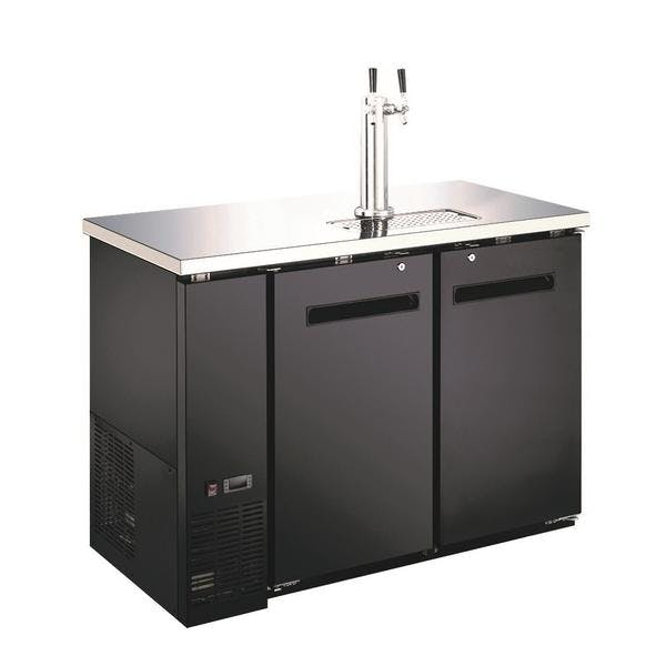 "48"" 2-Door Beer Dispenser - Kegerator"