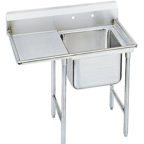Advance Tabco 9-1-24-18L Regaline One Compartment Sink, Left Drainboard, 18/304 Stainless Steel, 40 Inches Sink sold by Mission Restaurant Supply