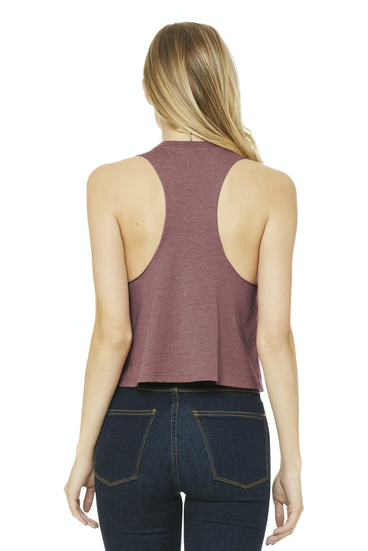 Bella+Canvas ® Women's Racerback Cropped Tank - sold by PRINT CITY GRAPHICS, INC