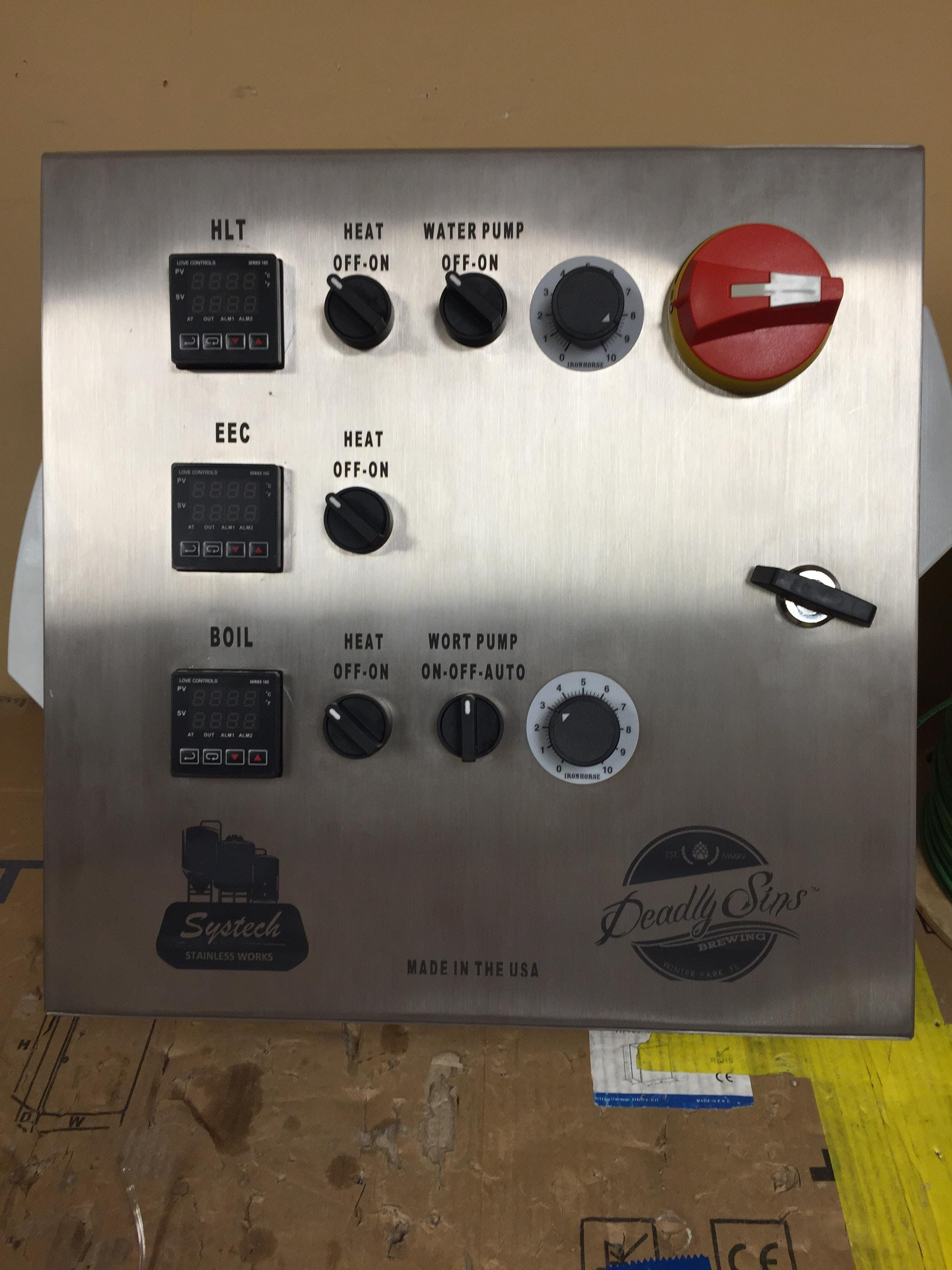 Systech Panel Control System sold by Systech Stainless Works, LLC [CLOSED]