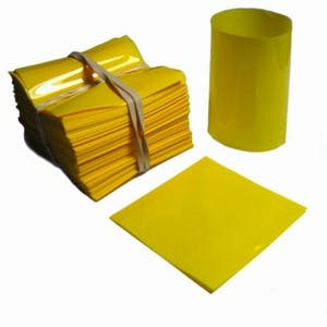 Yellow Shrink Bands forHot Sauce Bottles with 24mm Finish Shrink band sold by Fillmore Container Inc