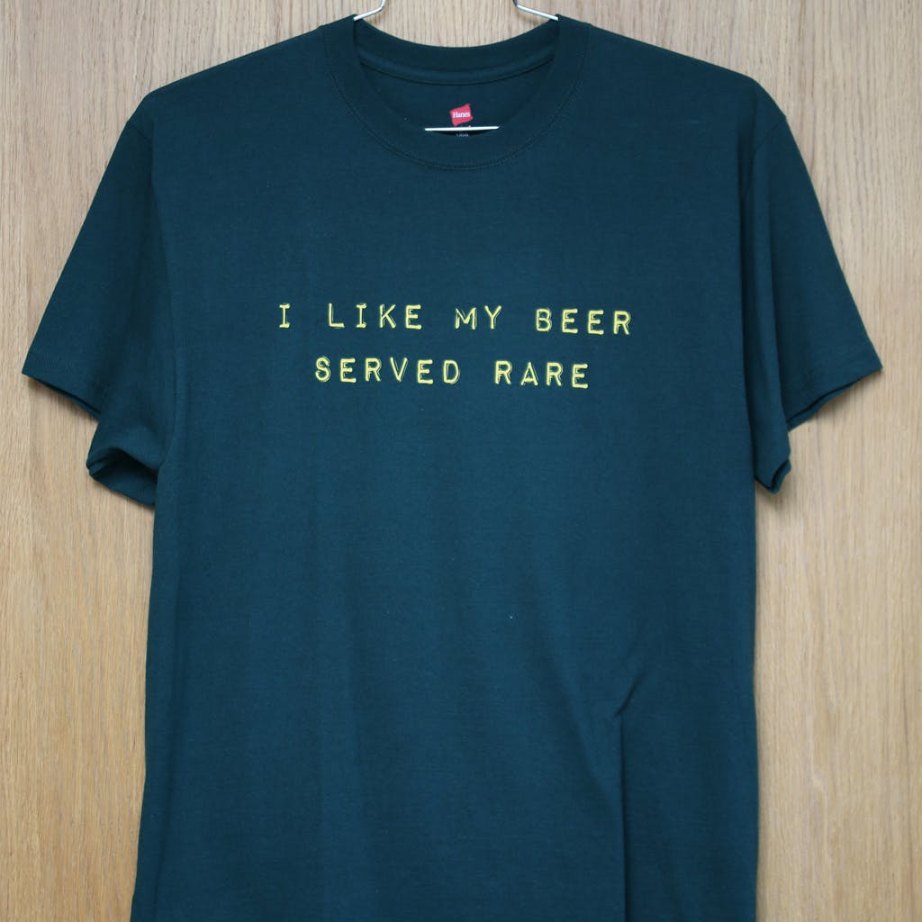 100% cotton promo tee - The Bruery Reserve Society - sold by Brewery Outfitters