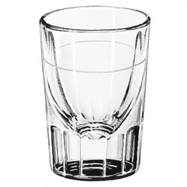 2 oz. Fluted Shot Glass w/ 1 oz. Line