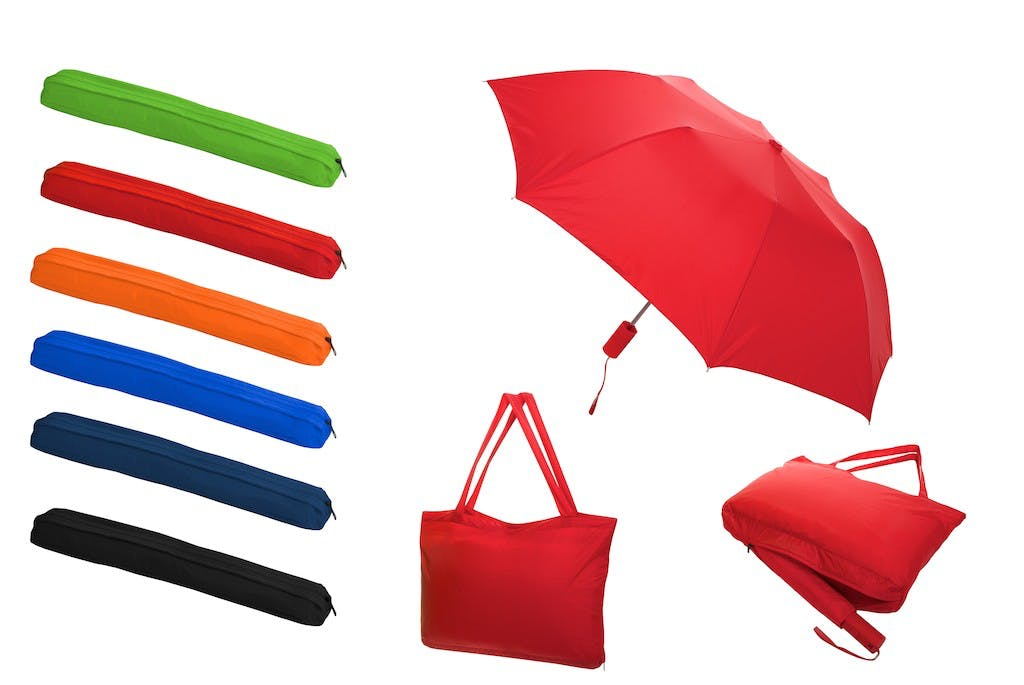 All-In-One Tote Bag/Folding Umbrella (Item # XEIHO-ICGSJ) Umbrella sold by InkEasy
