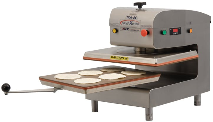 TXA-SS Tortilla press sold by DoughXPress