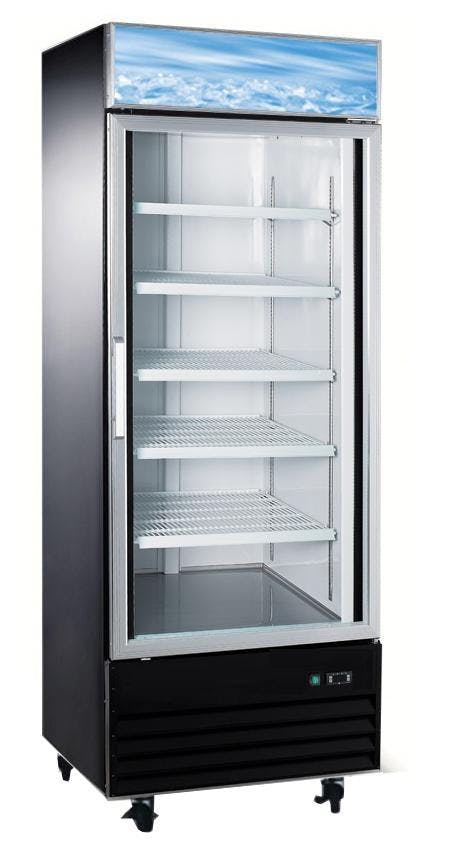 Single glass door Freezer 23 cu ft Commercial freezer sold by Easy Refrigeration Company