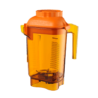 Vitamix 58990 Color Coded 48 oz. Advance Container with Blade Assembly | Orange Blender sold by Prima Supply