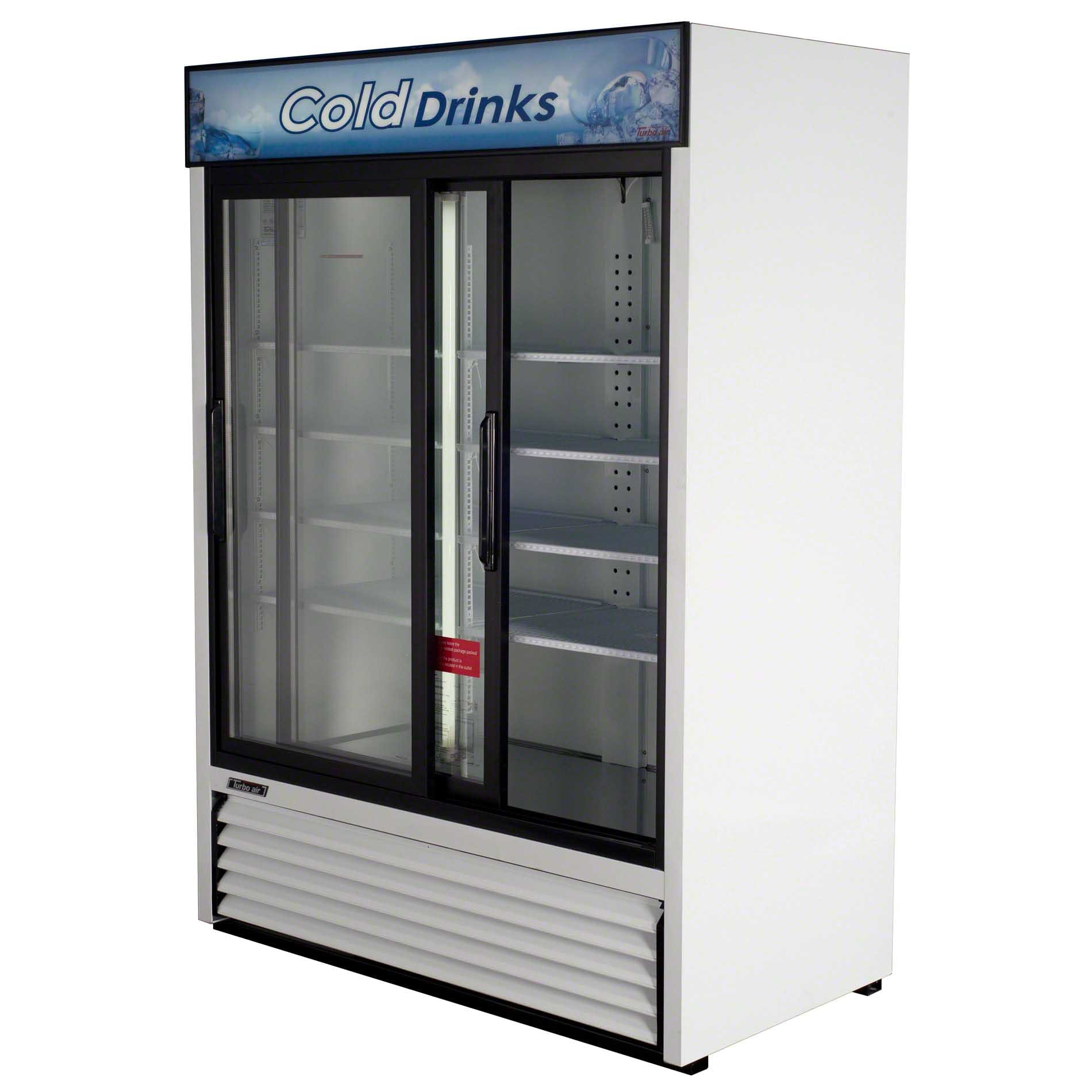 "Turbo Air - TGM-48R 56"" Sliding Glass Door Merchandiser Commercial refrigerator sold by Food Service Warehouse"